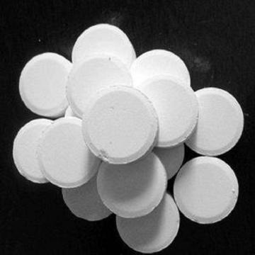 Swimming Pool Chlorine Tablet 200g, Multifunction, TCCA 90% CAS: 87-90-1